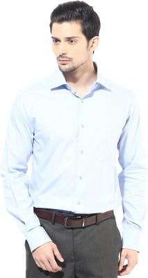 First Row Men's Solid Formal Light Blue Shirt