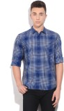 Lee Men's Checkered Casual White, Blue S...