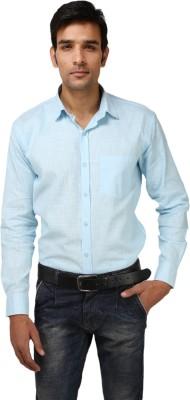 Aaral Men's Solid Formal Light Blue Shirt