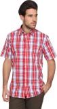 Denimlab Men's Checkered Casual Red, Blu...