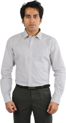 Desar Rana Men's Checkered Formal Grey, Blue Shirt