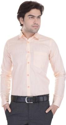 Lee Mark Men's Solid Formal Beige Shirt