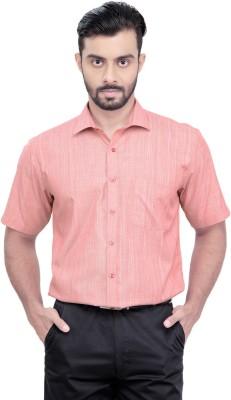 Zeal Men's Solid Formal Red Shirt