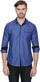 Alive Sport Men's Solid Casual Blue Shir...