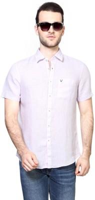 Allen Solly Men,s Solid Casual Purple Shirt