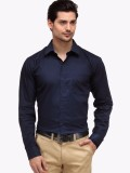 Oshano Men's Solid Casual Dark Blue, Dar...