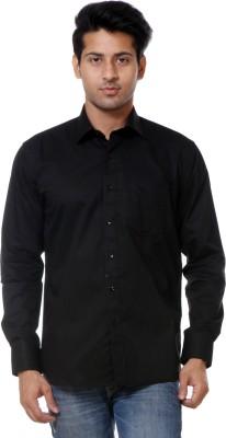 Call In France Men's Solid Formal Black Shirt
