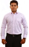 Iconic Men's Striped Formal White Shirt