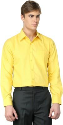 MNW Men's Solid Formal Yellow Shirt