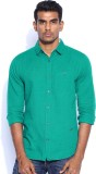 POE Men's Solid Casual Green Shirt