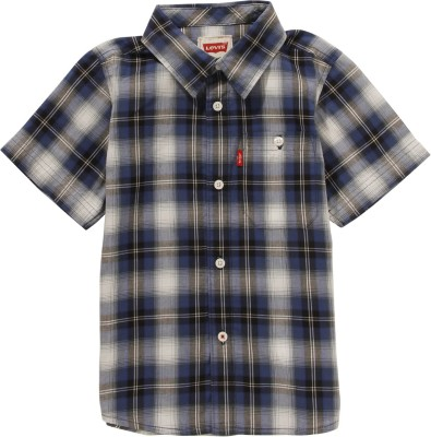 Levis Kids Boy's Checkered Casual Multicolor Shirt