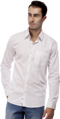 Trendy Bandey Men's Solid Casual White Shirt