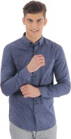 Selected Formal Shirts (Men's) - Selected Men's Checkered Formal Blue Shirt