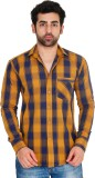Lime Time Men's Checkered Casual Orange ...