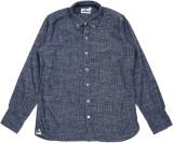 WROGN Boys Printed Casual Blue Shirt