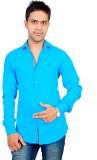 Gayo Fashion Men's Solid Casual Blue Shi...