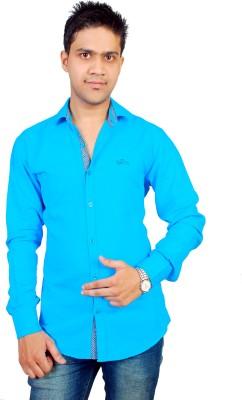 Gayo Fashion Men's Solid Casual Blue Shirt