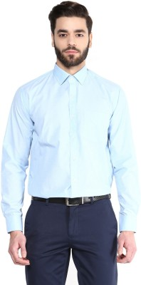 Urban Culture Men's Solid Formal Light Blue Shirt