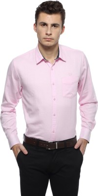 Derby Jeans Community Men's Solid Casual Pink Shirt