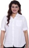 LASTINCH Women's Solid Casual White Shir...