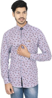Perky Look Men's Floral Print Casual Blue, Red Shirt