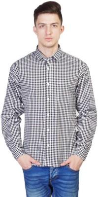 Seaboard Men's Checkered Casual Black Shirt