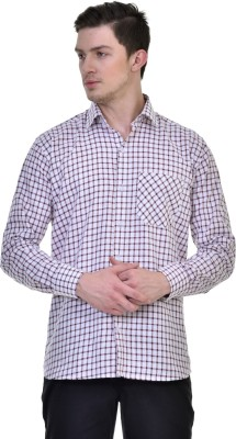 Comfortline Men's Checkered Casual Maroon Shirt