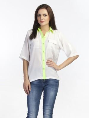 Schwof Women's Solid Casual White Shirt
