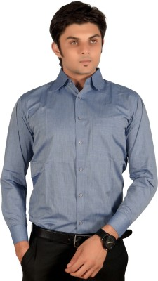 Proactive Men's Solid Formal Grey Shirt