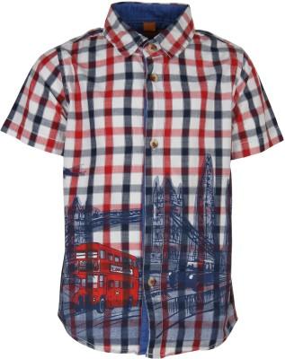 Silver Streak Boy's Printed Casual Red Shirt