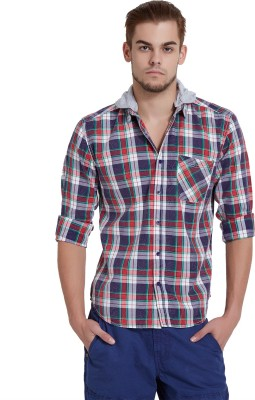 Breakbounce Men,s Checkered Casual Red Shirt