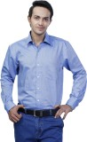 Spaky Men's Solid Formal Blue Shirt