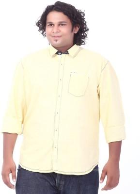 Ciroco Men's Solid Casual Yellow Shirt