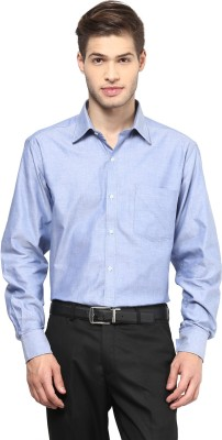 American Crew Men's Solid Formal Light Blue Shirt
