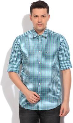 Arrow Sports Men's Checkered Casual White, Blue, Green Shirt