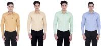 London Looks Formal Shirts (Men's) - London Looks Men's Solid Formal Multicolor Shirt(Pack of 4)