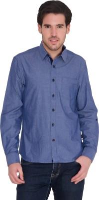 IDENTITI Men's Solid Casual Blue Shirt