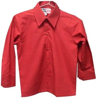 Rajindras Boy's Solid Casual Red Shirt
