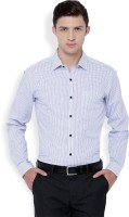 Black Coffee Formal Shirts (Men's) - Black Coffee Men's Checkered Formal Blue Shirt