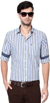 Allen Solly Men's Striped Casual White Shirt