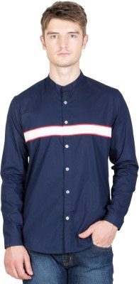 NFC Men's Solid Casual Blue Shirt