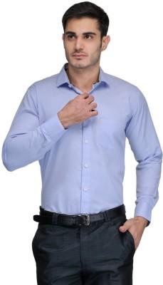 Harvest Men's Solid Formal Light Blue Shirt