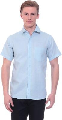 Tabser Men's Solid Casual Light Blue Shirt