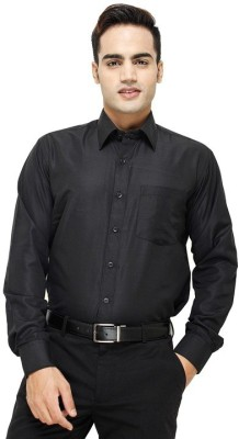 Modish Vogue Men's Solid Wedding, Casual, Party, Formal, Beach Wear, Festive, Lounge Wear Black Shirt