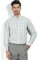 John Miller Formal Shirts (Men's) - John Miller Men's Checkered Formal Grey Shirt