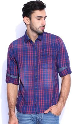 HRX by Hrithik Roshan Men's Checkered Casual Maroon Shirt