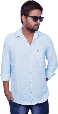 United Polo Hills Men's Solid Casual Light Blue Shirt