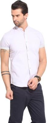 Leo Sansini Men's Solid Casual Purple Shirt