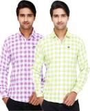 Kiez Men's Checkered Casual Multicolor S...