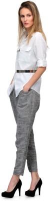 Yolo Designs Women's Solid Formal White Shirt